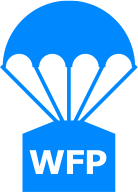Icon of a parachute with WFP logo
