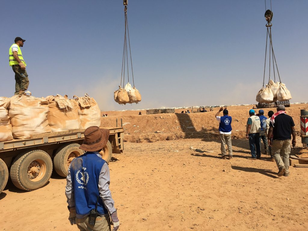 The berm operation provided some 75,000 people with much-need food and humanitarian supplies.