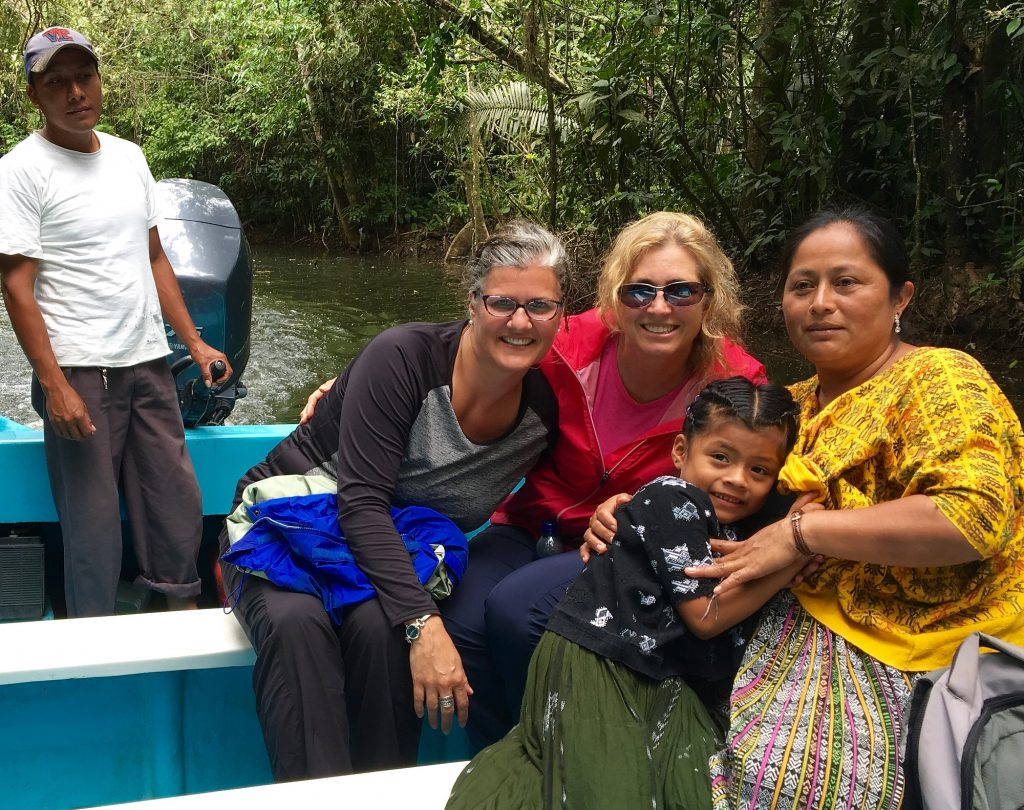 Suzanne Cordero on a river in Guatemala.