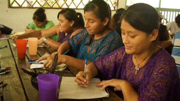 Indigenous girls in Guatemala.