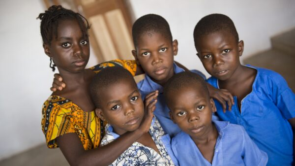 Children at the orphanage of Madame Gilberte Wadji in Bangui, Central African Republic