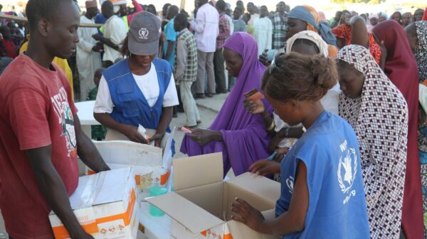WFP delivers food to families in need in northeast Nigeria.