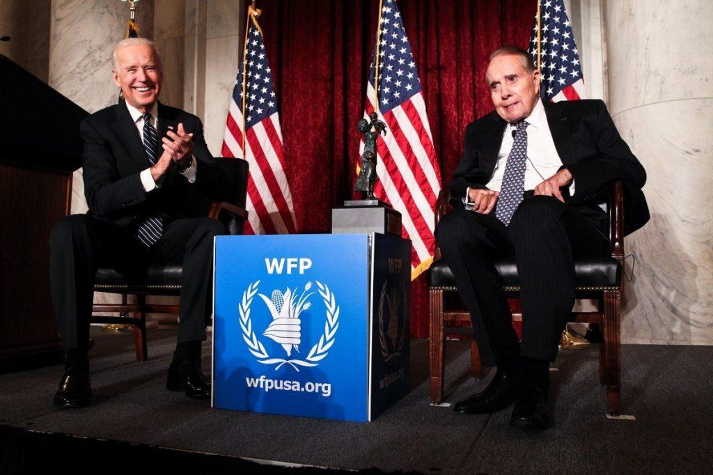 Vice President Joe Biden with Senator Bob Dole at World Food Program USA's annual 2013 McGovern-Dole Award Ceremony.