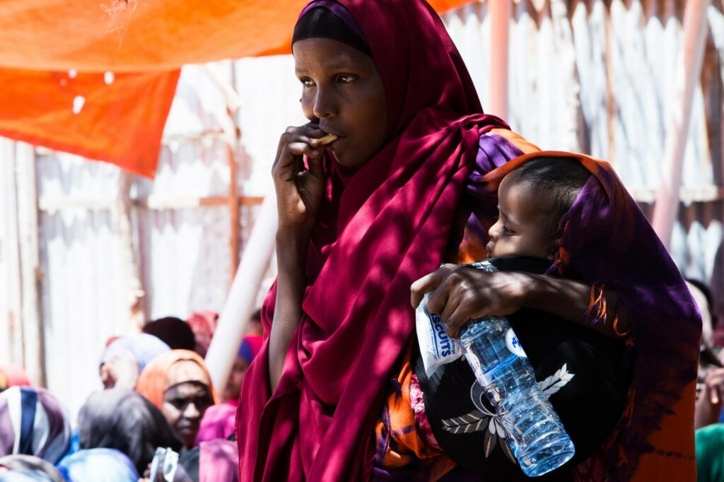 Women and children suffer most from famine in Somalia