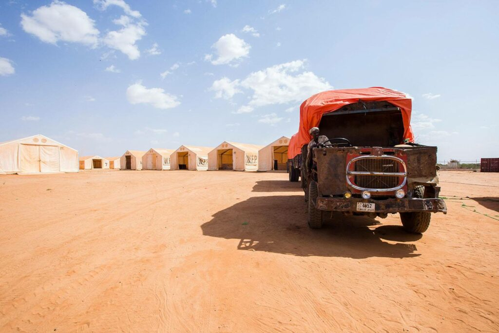 WFP trucks deliver food to remote places in Somalia