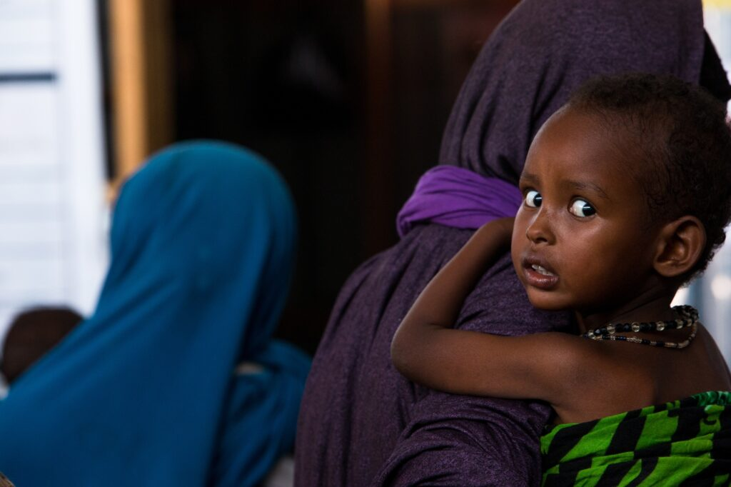 Drought and famine cause refugees to flee