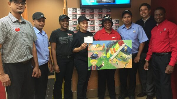 The KFC team in Manhattan, New York– top fundraisers for KFC's Add Hope® Campaign last year.