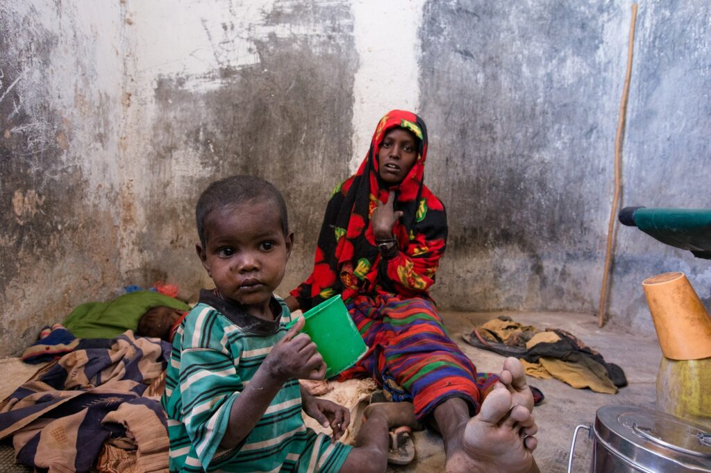 Children are at higher risk for illness during famine