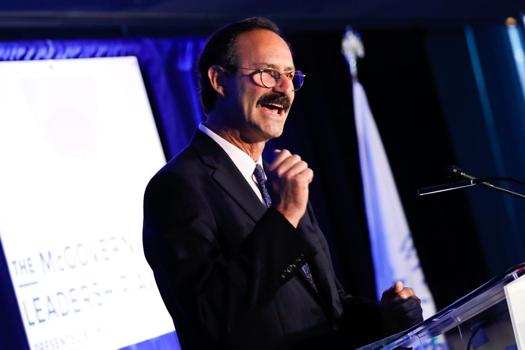 WFP USA President and CEO Rick Leach delivers remarks during the 2017 McGovern-Dole Leadership Awards in Washington, D.C. (Oct. 4, 2017)