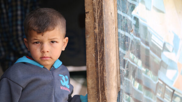 A Syrian refugee who needs food aid