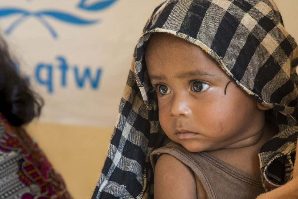 WFP provides food to refugees at the Kutupalong camp in Cox's Bazar in Bangladesh