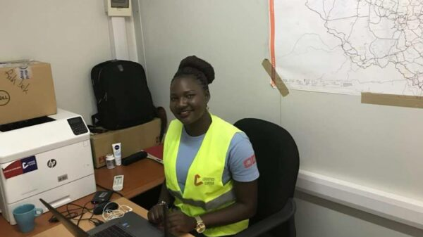 Humanitarian logistics officer Diko Amariah in her office in Rumbek, South Sudan.