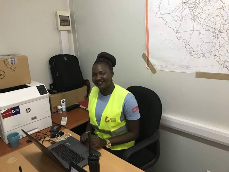 Humanitarian logistics officer Diko Amariah in her office in Rumbek, South Sudan.