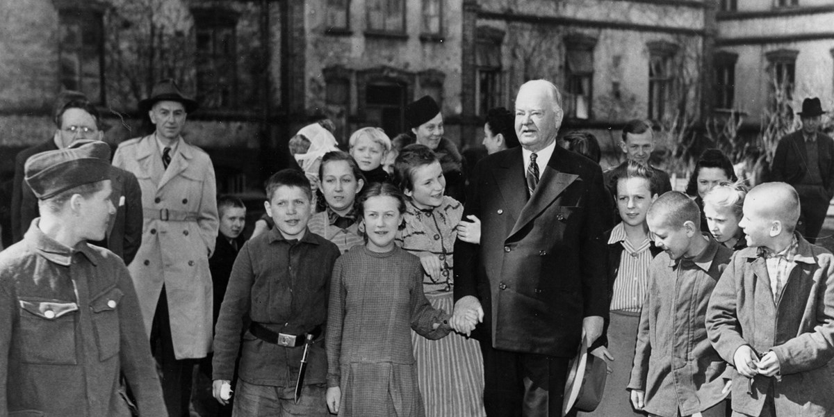 Herbert Hoover helped the US send food to Poland after WWII