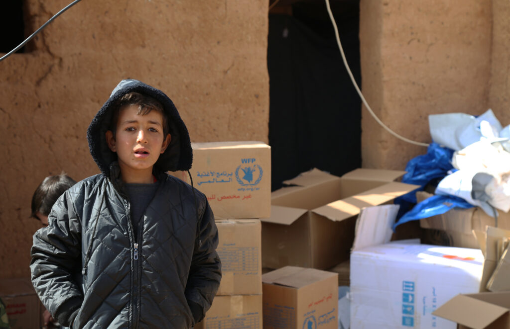 UN WFP deliver food and medical supplies to Syrian refugees in Rukban