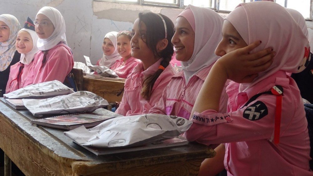 School feeding programmes can provide a sense of stability in conflict-affected states, such as Syria. Their impact is especially great for girls — helping girls stay in school, especially into adolescence, is an effective way of preventing early marriage and of delaying first pregnancy.