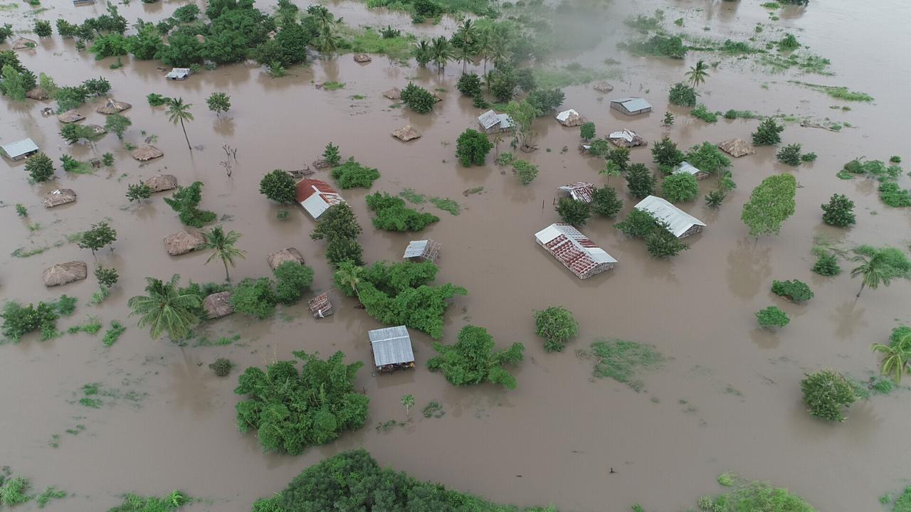 Destruction from Cyclone Idai in Mozambique