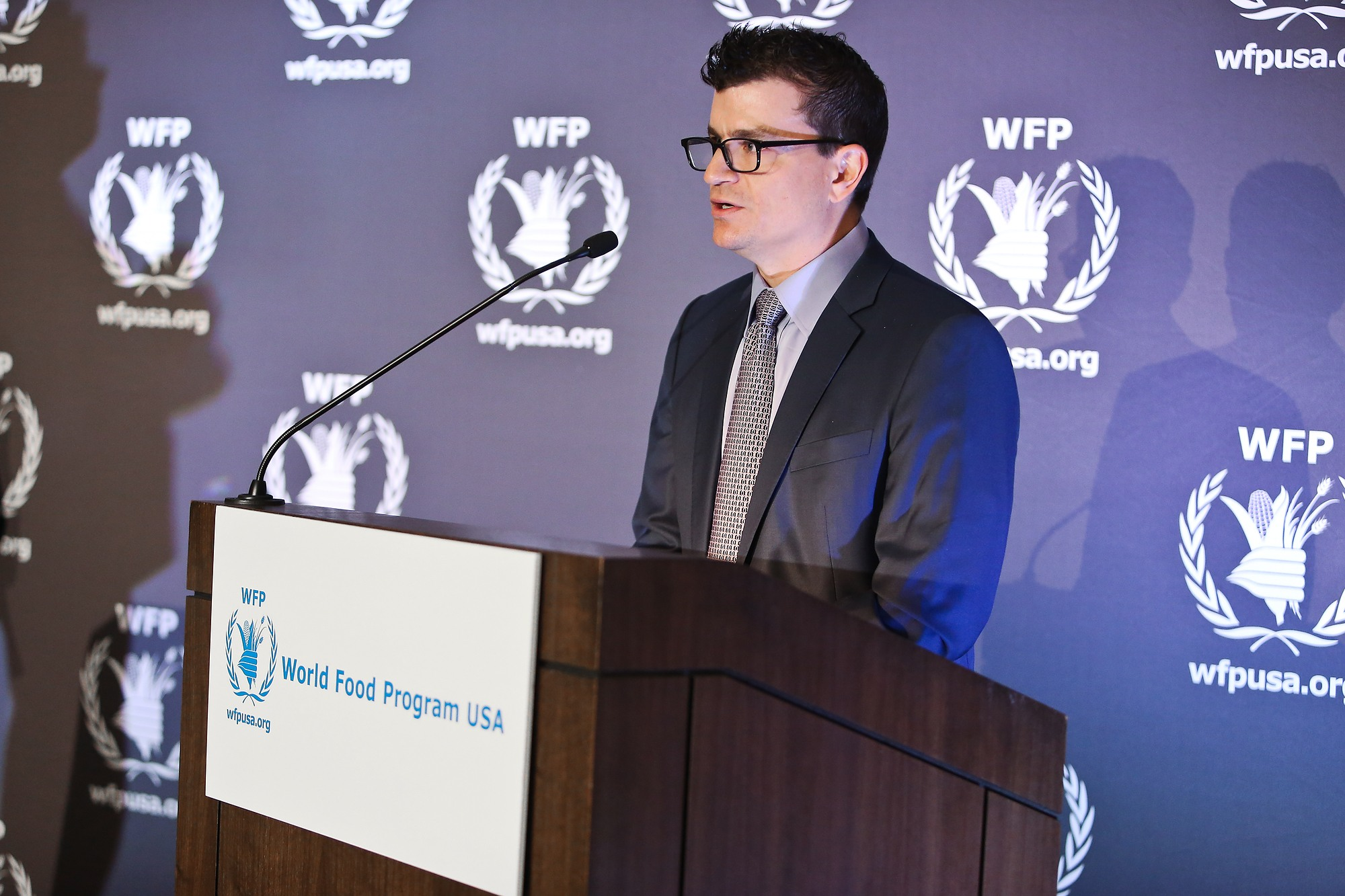 Alex Berger speaks about his father's legacy at WFP USA's Global Humanitarian Award event.
