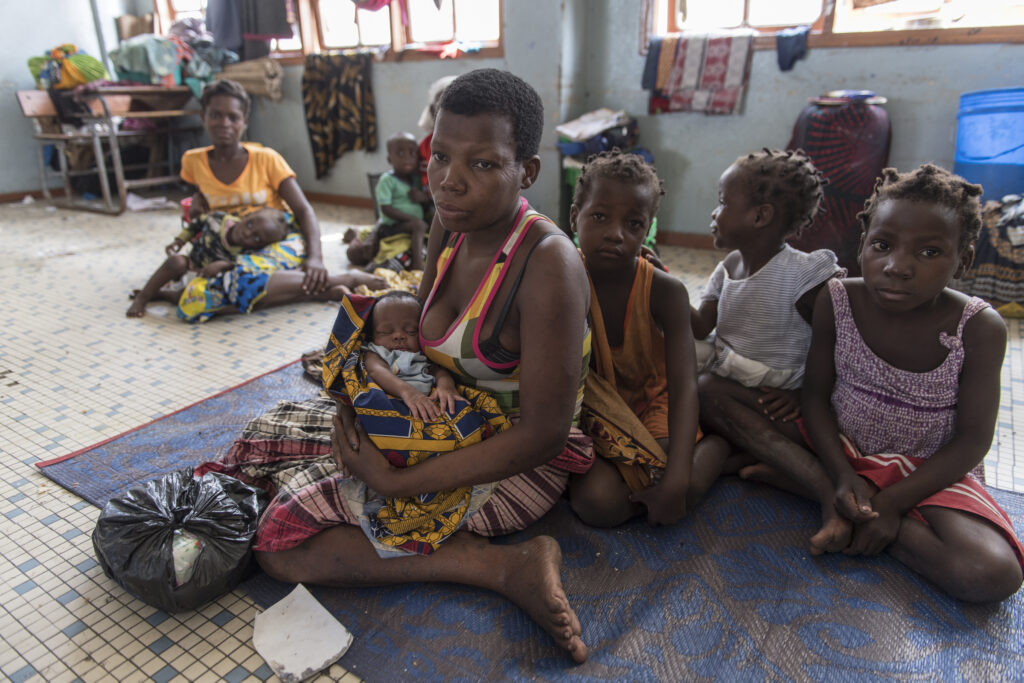 A mother with four children who lost everything in the Mozambique cyclone
