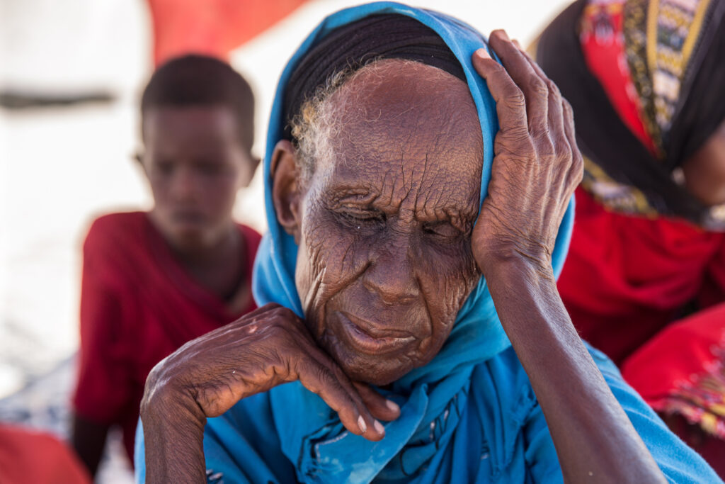 A family takes shelter from the sun in Somalia