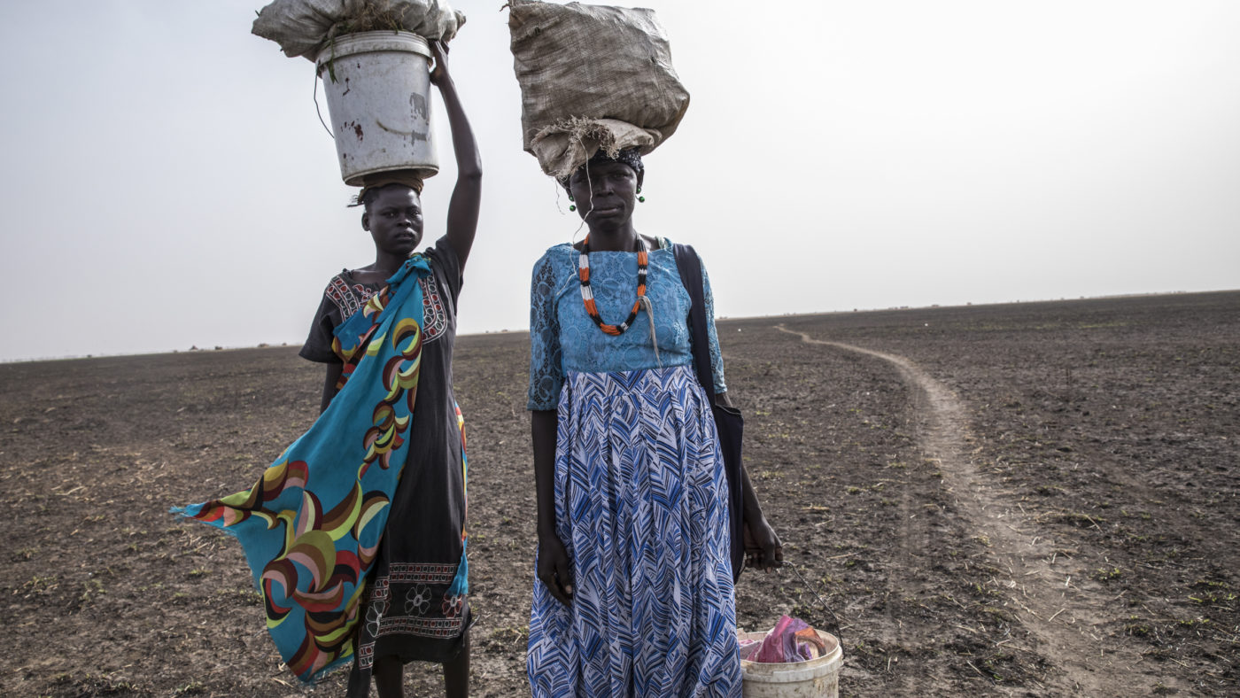 Image depicting severe hunger in South Sudan