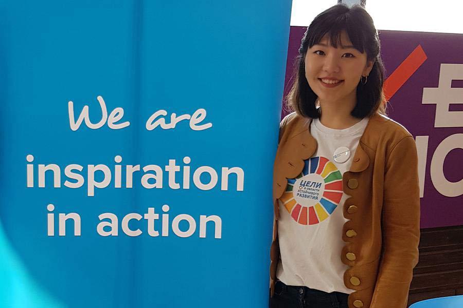 UN Volunteer working in Kyrgyzstan