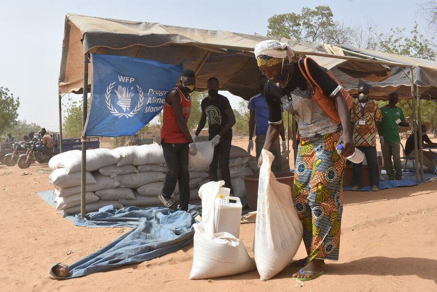 WFP distributes food in Burkina Faso, a region prone to famine