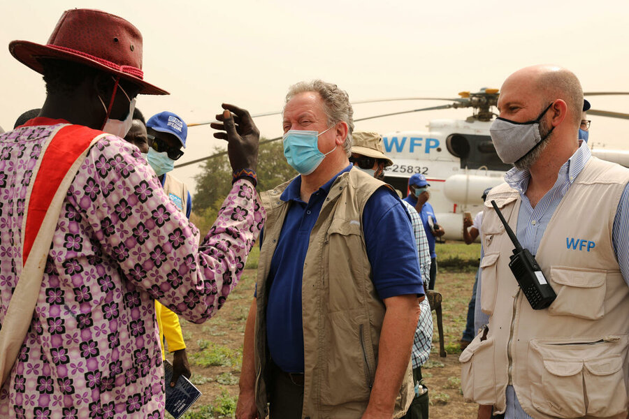 WFP officials in South Sudan