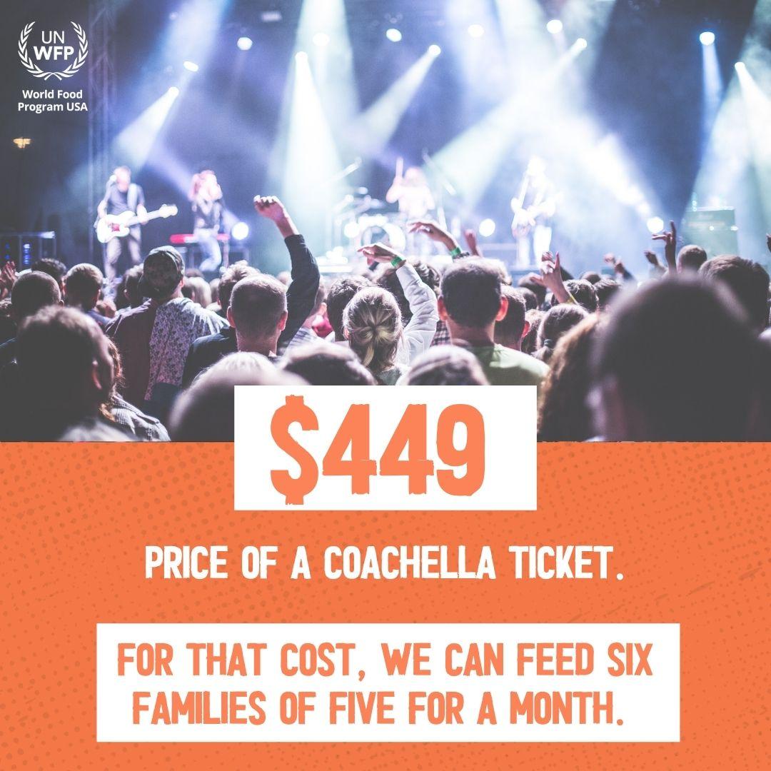 Coachella Ticket vs. Feeding Families
