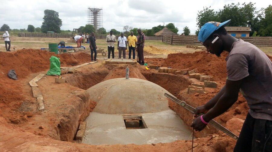 construction in Senegal on biodigester