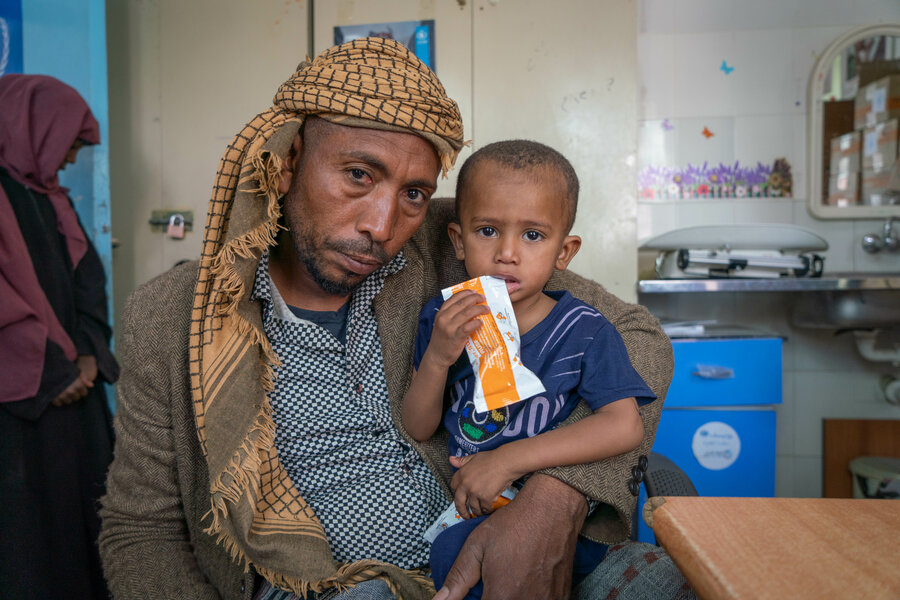father and son in Yemen