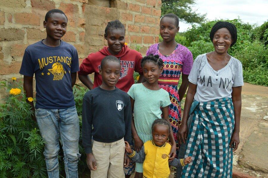 family in Zambia