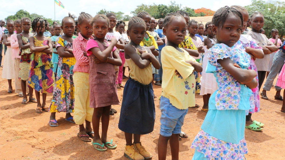 WFP food programs in C.A.R. help feed hungry children
