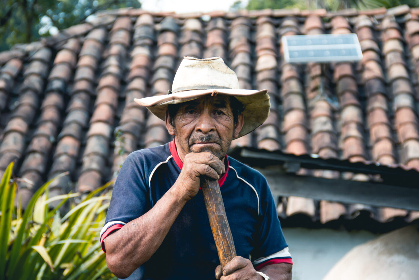 Farmer struggles with food security in Central America Dry Corridor