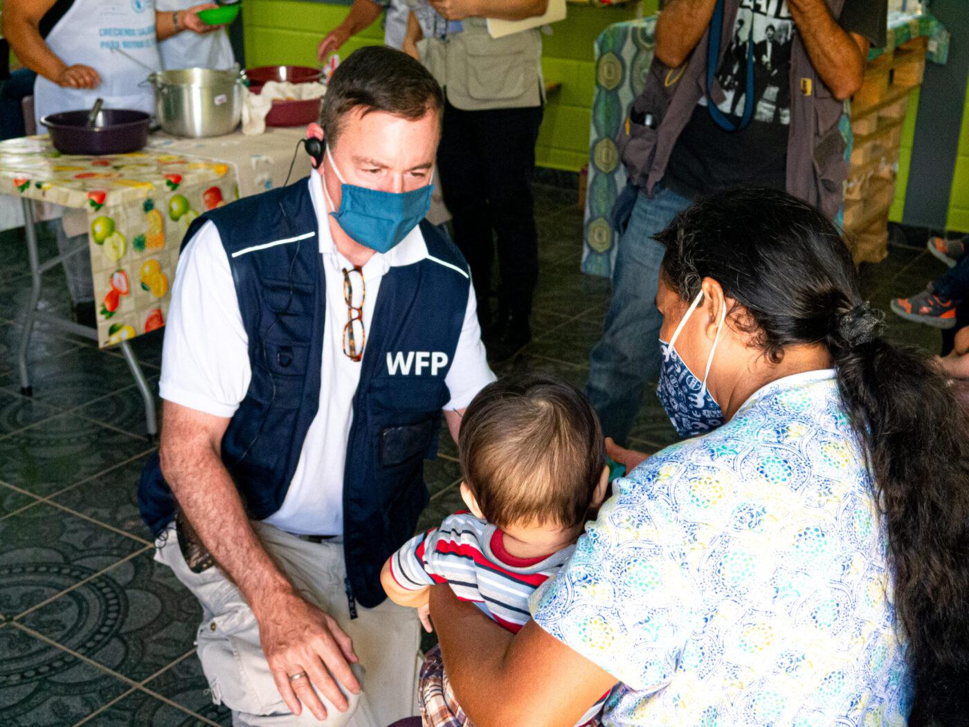 WFP USA President Barron Segar visits families in Central America