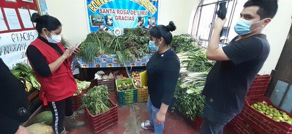 food is sorted by volunteers